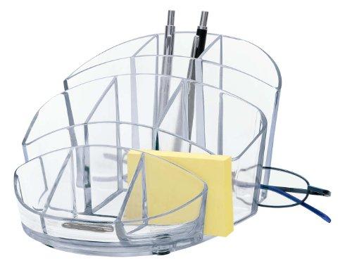Wedo 24575516 Butler Rotondo (rund, 9 Fächer, Briefablage und Zettelfach) glasklar