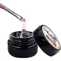QIMEIYA Gel adhesivo UV para decoración de uñas super pegajoso y transparente pegamento para pedrería