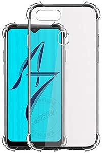 Jkobi Rubber Back Cover for OPPO A7 - Transparent