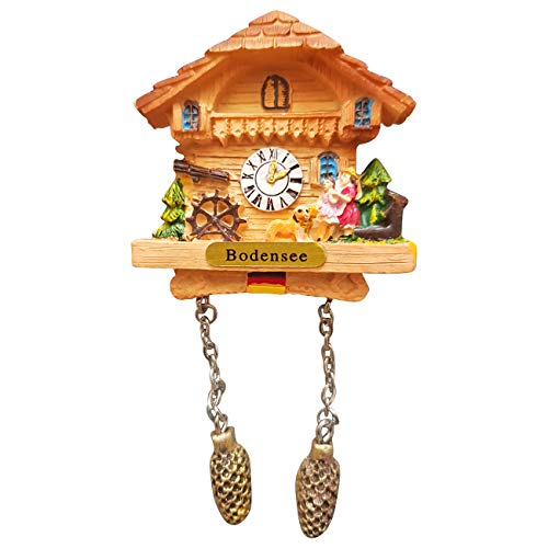 Ciffre Kuckucksuhr Magnet Polyresin Kühlschrank Beige Haus Familie - Bodensee