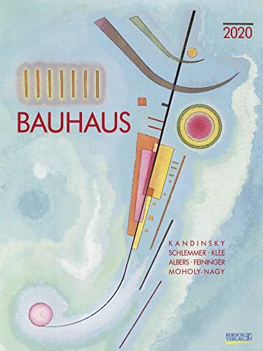 Bauhaus 2020: Großer Kunstkalender. Hochwertiger Wandkalender mit Meisterwerken des Bauhaus Stils. Kunst Gallery Format: 48 x 64 cm, Foliendeckblatt - Bauhaus-kunst