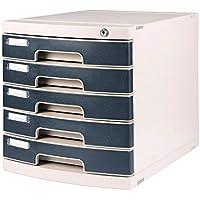 Archivadores CHENGYI Gabinetes de Archivo de 5 Capas plástico de Escritorio con Cerradura Caja de Almacenamiento