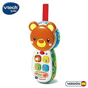 VTech-80-502722 Teléfono Interactivo de Juguete para entretener y divertir al bebé, Color Verde (3480-502722)