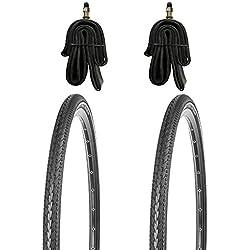 2x 28 Zoll Fahrradreifen Set 700x38c KUJO mit Pannenschutz und Reflexstreifen inkl. Schlauch DV