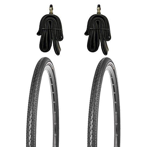 2x 26x1.75 Fahrradreifen Set KUJO mit Pannenschutz inkl. Schlauch DV (Fahrrad Felgen 26)