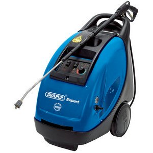 Draper Expert 13754 3000W 230V Diesel/Electric Hot Water Pressure Washer with Total Stop Feature
