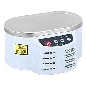 Jimfoty Ultraschall Schmuck Reiniger, Mini Professionelle Elektrische Schmuck Brillen Reiniger Ringe Münzen Reinigungsmaschine 30 Watt + 50 Watt