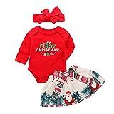 Baby Mädchen Meine erste Weihnachten Kleidung Set Rock und Strampler und Stirnband 3 Stück Anzug