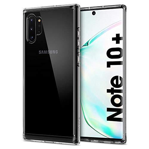 Spigen Coque Samsung Note 10 Plus [Ultra Hybrid] Bumper Souple, Dos Rigide et Transparent, Protection - Air Cushion, Coque Compatible avec Samsung Galaxy Note 10 Plus - Crystal Clear