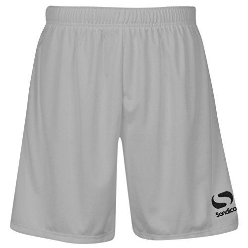 Sondico Bambini Core FB Shorts bambini ragazzi sport pantaloni pantaloni da calcio allenamento White 5-6 Anni