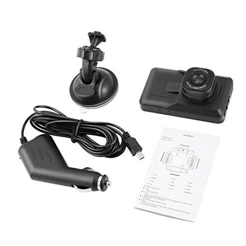 3 Zoll DVR 120 Grad-Weitwinkelschlag-Nocken-Doppelobjektiv 1080P WiFi Auto-Digital-Videogerät mit Nachtsicht-Funktion - Schwarzes