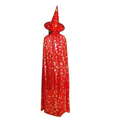 Halloween Pumpkin Cape Cloak Ghost Festival Children's Adult Masquerade Hot Stamping Witch Five Star ()