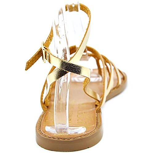Chinese Laundry Gia Cuir verni Sandales Gladiateur gold