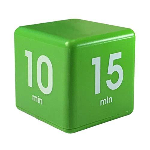 GEZICHTA Cube Timer, 5, 15, 30, 60Minuten Countdown Timer Uhr Küche Büro Kinder Timer Management für Kinder Kids, Workout Timer, Kein Programmieren notwendig, Grün, Free Size