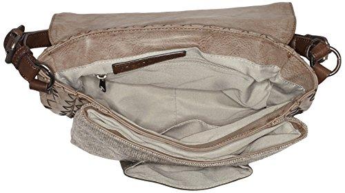 08/16 Damen Haarlem Elenor Flap Bag M Schultertaschen, 28x19x10 cm Beige (Taupe)