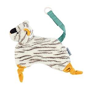 Sterntaler- Kuschelzoo-Mantita de Seguridad para bebés a Partir del Primer Mes Tamaño: 20 cm Color: Blanco, (3201954)