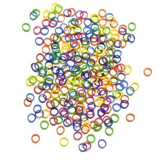 """100 Pack - 1/4"""" diameter (6.4 mm) Orthodontic MULTI-COLORED Elastic Rubber Bands Great for Dog Grooming, Top Knots, Braids, and Dreadlocks by Pet Supply City"""