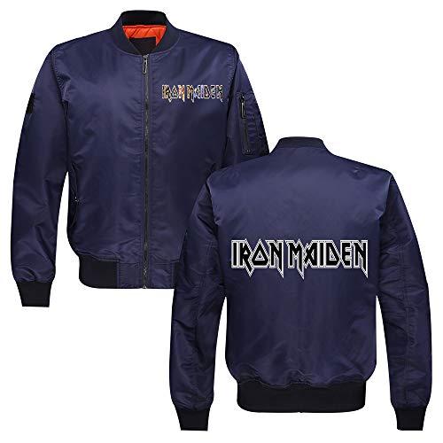 Unisex Iron Maiden Sudaderas El otoño y el invierno for hombre de la moda de vestir exteriores con cremallera Capa Caliente collar del soporte de la chaqueta experimental Iron Maiden Sudaderas con cap