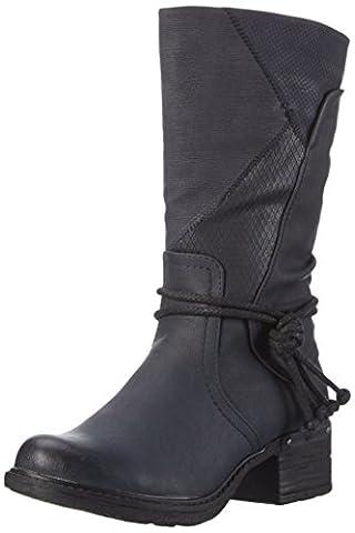 Rieker 92759, Damen Warm gefüttert Classics Langschaft Stiefel & Stiefeletten, Blau (ozean/pazifik/ozean / 14), 41 EU