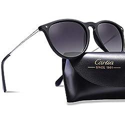 Carfia Occhiali da sole, Moda Occhiali da Sole da Donna Tondi Sunglasses Polarizzati UV400 protezione - struttura in metallo