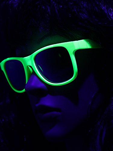 UV Schwarzlicht Neon Brille grün