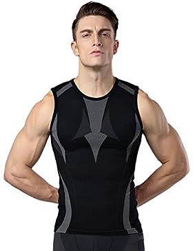 Shaper del corpo per gli uomini Perdita uomini che dimagriscono la camicia della maglia T-shirt di compressione...