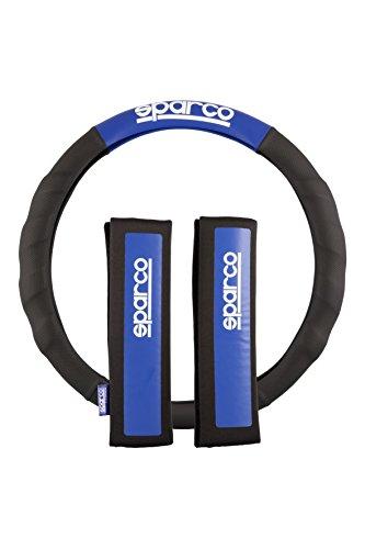 sparco-spc1111kaz-almohadillas-funda-de-volante-color-negro-y-azul-juego-de-2