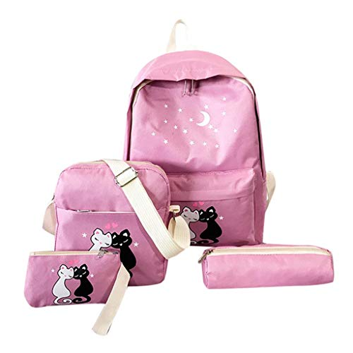 amen Canvas Wilden Reise Multifunktionstasche Daypacks Outdoor Rucksack Vierteiliger Rucksack Handtaschen Damen Klein Reisestudententasche Bag In Bag Handtaschen Organizer ()