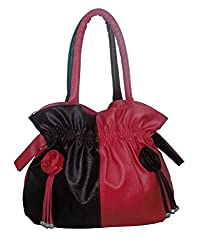Vian Beautiful/Stylish Red and Black color Women's Handbags