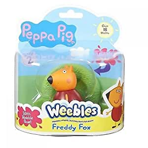 Peppa Pig Weebles Wobbily Figure And Base Freddy Fox