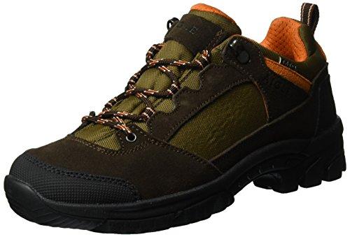 Aigle Arven Low Mtd, Chaussures de Randonnée Basses Homme DARKBROWN/ORANGE