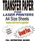 Transferpapier, für leichte Stoffe, Laserdrucker, A4, 10 Stück