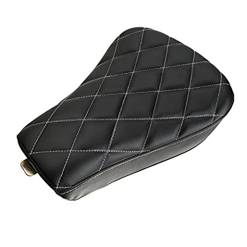 CICMOD New Soft Motorcycle Front Solo Pad Seat Cushion for Harley Davidson XL883 XL1200 X48 Black