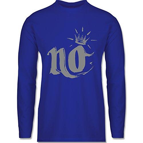 Statement Shirts - Nö Krone - Longsleeve / langärmeliges T-Shirt für Herren Royalblau