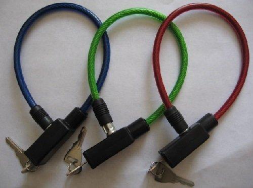 cable antivol vélo avec 2 clés * NEUF * (model aléatoire)