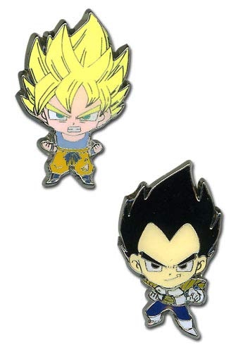 Dragon Ball Z Super Saiyan Goku & Vegeta Mini Pin Set (Dragon Ball Z Set)