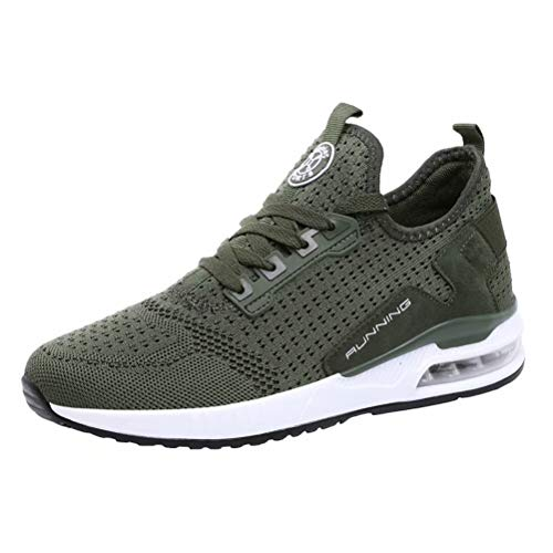 JIANYE Unisex Turnschuhe Atmungsaktiv Laufschuhe Damen Sportschuhe Herren Mode Schuhe Sports Freizeitsport Armee-Grün 37