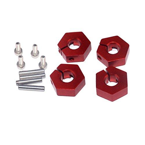 MagiDeal 4pcs Aluminium Mutter Nut Rad- Antrieb Schrauben 12mm für 1/10 RC Auto HSP HPI LRP (Mutter 12mm Rad)