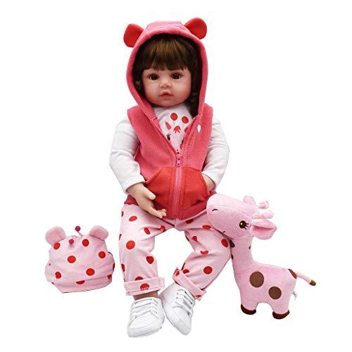ECMQS 24inch (61 cm) Lebensechte Puppen Baby Mädchen, Qualität Reborn Puppe Komplett Silikon Vinyl Realistische Baby Puppe Handgemachtes Geburtstagsgeschenk - Puppe Tuch Baby