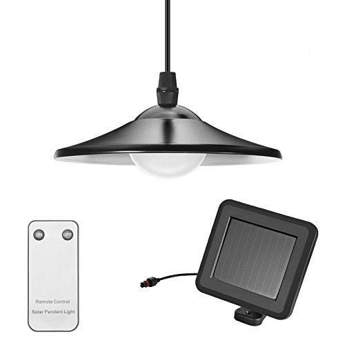 Solarlampen für Außen, Tomshine Solar Hängeleuchte mit Fernbedienung, Tragbare Solarleuchte, 2 Modi Solar Pendelleuchte Hängelampe mit Solarpanel und Zugschalter- IP44 Wasserdicht