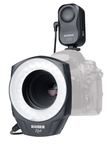 Kaiser Fototechnik - Lampada led ad anello R48 con 48 LED e anello adattatore 49-67 mm