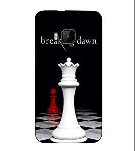 Fuson Designer Back Case Cover for HTC One M9 :: HTC One M9S :: HTC M9 (Chess King Game Breaking Down)