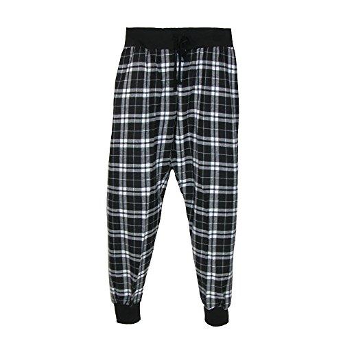 boxercraft - Bas de pyjama - À Carreaux - Femme taille unique noir