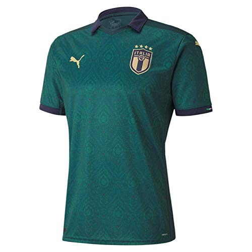 PUMA Herren FIGC Third Shirt Replica Trikot, Ponderosa Pine-Peacoat, S