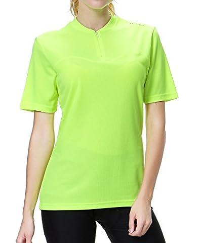 Przewalski Women's Basic Cycling Jersey (Hi-Viz Yellow, X-Large)