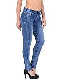 0159f5874e8435 ESRA Damen Jeans Hose Straight Fit Jeans Röhren Jeanshose Slim Fit Jeans  große Größen S800