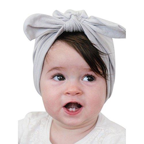 YASSON Neugeborenes Mütze Unisex Baby Kopfdeckung Süß Große Schleife Jersey Slouch Hut Jungen Mädchen Stirnband Weich Bequem Hut Babybekleidung