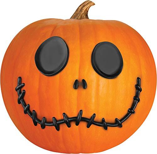 Gemmy (Sun Star) Jack Skellington Pumpkin Push In Halloween Standard Orange