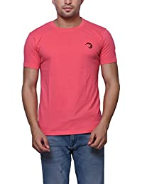 Pink Cotton Round Neck T-Shirt For Men's/Boy's Half Sleeves Tees Casual Tshirt By Oneliner Clothing