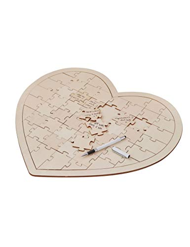 Ginger Ray bh-756Holz Puzzle Hochzeit guestbook-58Stück